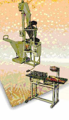 Линия для фасовки пылящих продуктов на базе дозатора Д-03 (серия П) (фото)